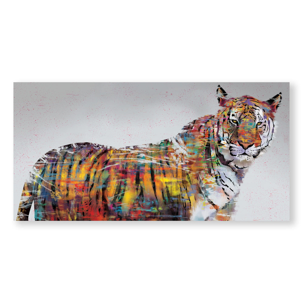Graffiti Tiger Canvas - Single Panel Art Clock Canvas