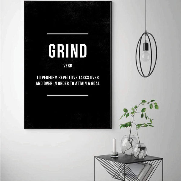 Grind Clock Canvas