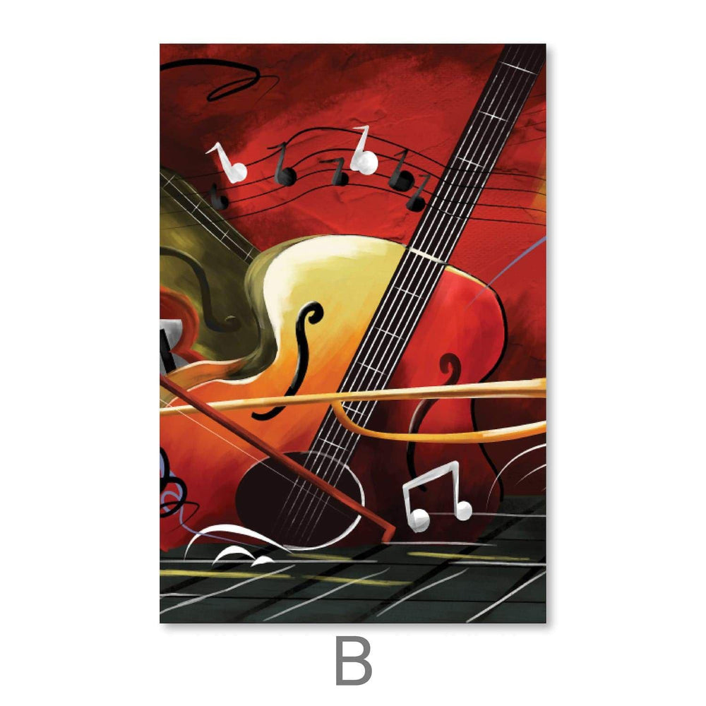 Groovy Sounds Canvas Art Clock Canvas