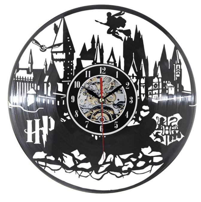 Harry Potter Vinyl Clock Clock Canvas