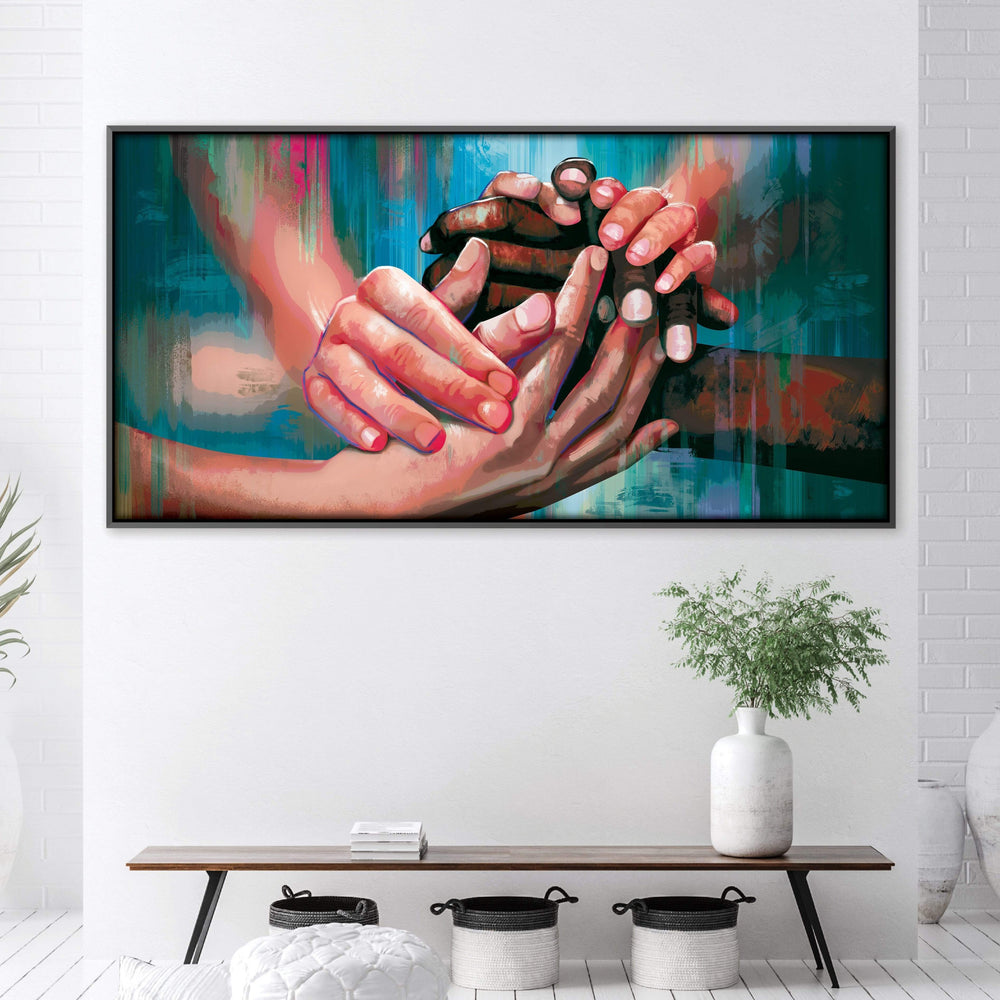 Helping Hands Canvas Art Clock Canvas
