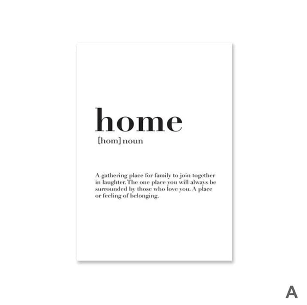 Home Family Love Canvas Art A / 40 x 50cm / No Board - Canvas Print Only Clock Canvas