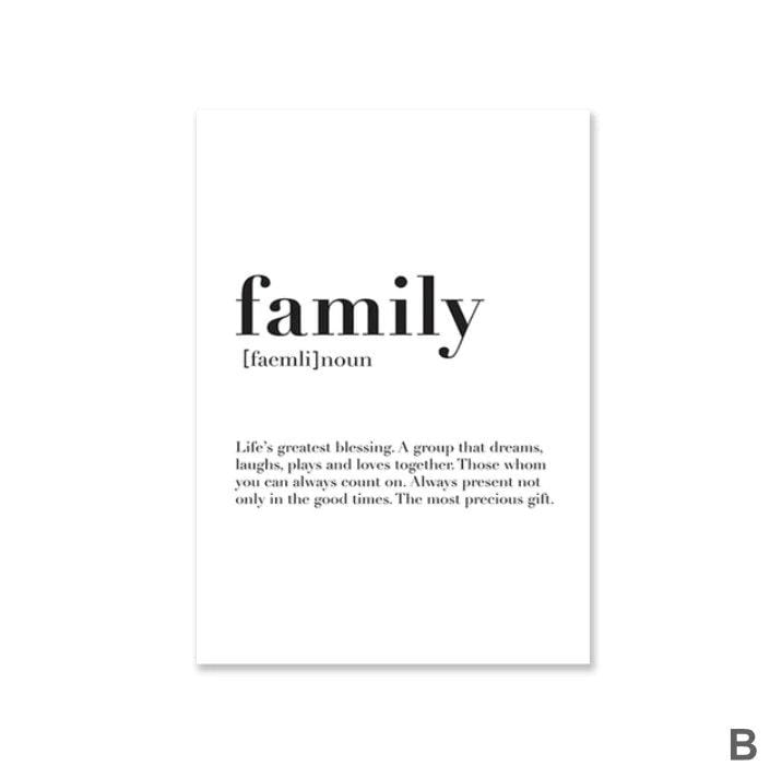 Home Family Love Canvas Art B / 40 x 50cm / No Board - Canvas Print Only Clock Canvas