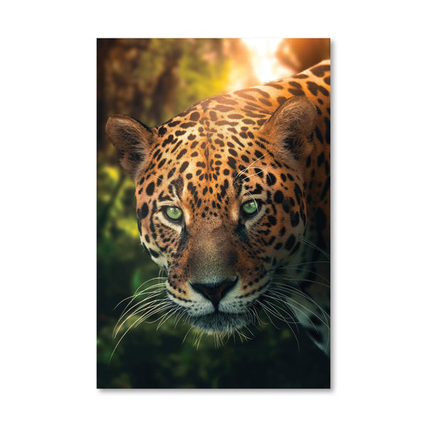 Hunting Leopard Canvas Art Clock Canvas