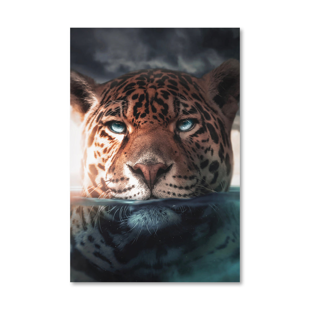 Jaguar Lake Canvas Art Clock Canvas