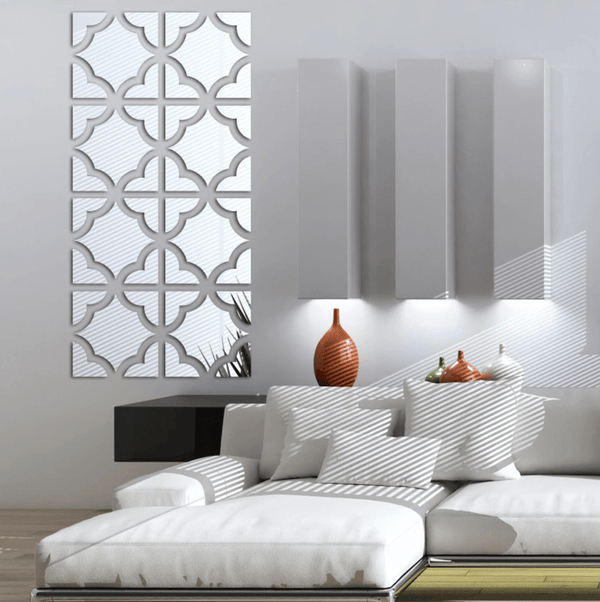 Kaia Reflective Wall Stickers Clock Canvas