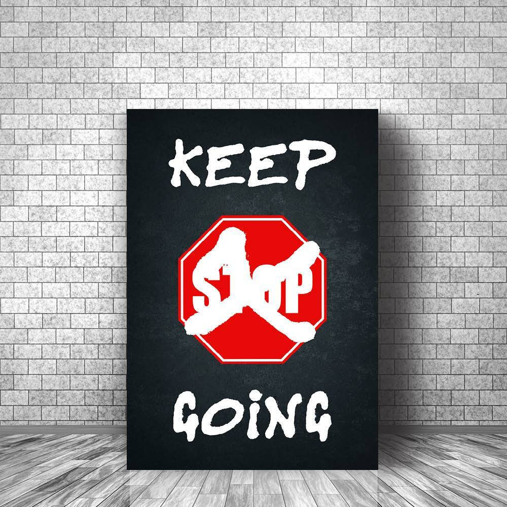 Keep Going Clock Canvas