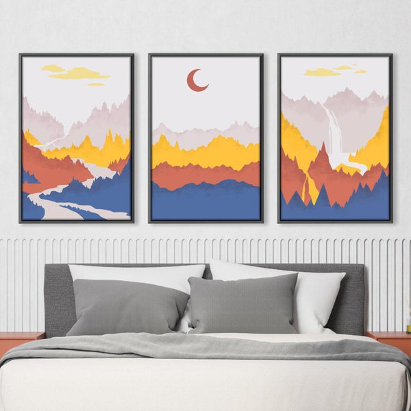 Layered Landscape Canvas Art Clock Canvas