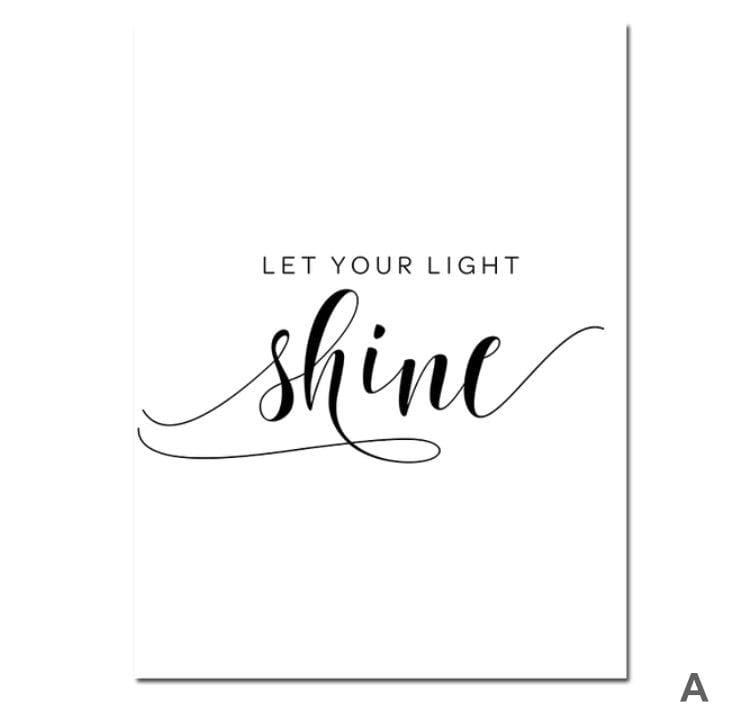 Let Your Light Shine Canvas Art A / 40 x 50cm / No Board - Canvas Print Only Clock Canvas