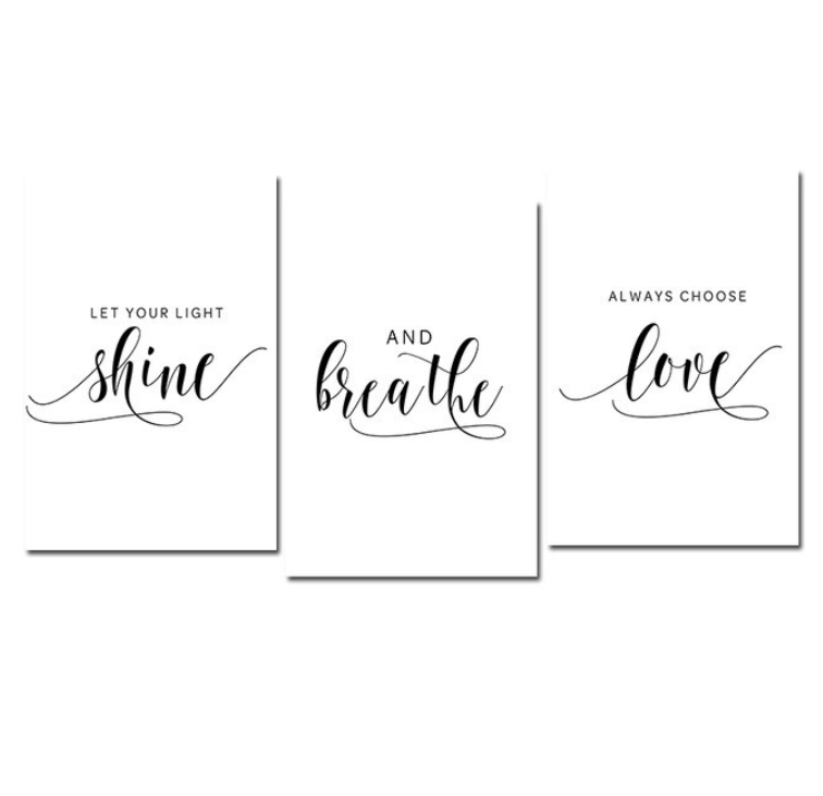 Let Your Light Shine Canvas Art Set of 3 / 40 x 50cm / No Board - Canvas Print Only Clock Canvas
