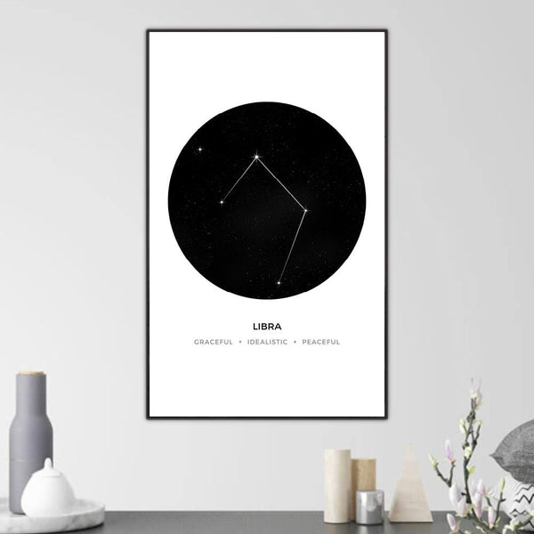 Libra Traits Canvas Art Clock Canvas