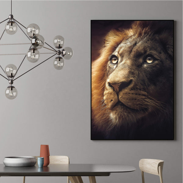 Lion King Canvas Art Clock Canvas