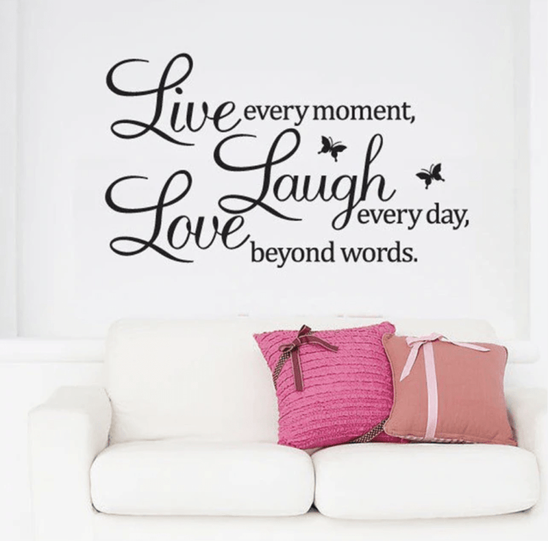 Live Laugh Love Wall Sticker Clock Canvas