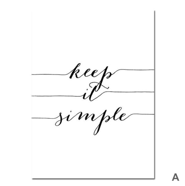 Live Simply Canvas Art A / 40 x 50cm / No Board - Canvas Print Only Clock Canvas
