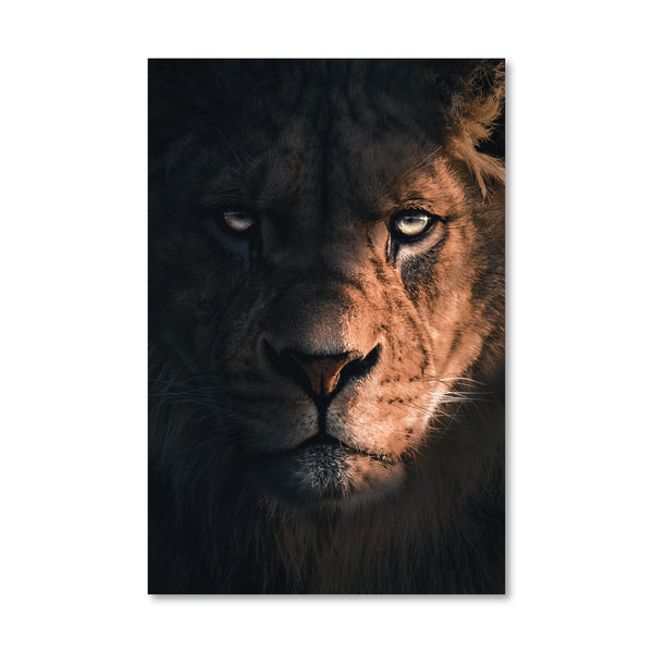 Mighty Lion Canvas Art Clock Canvas