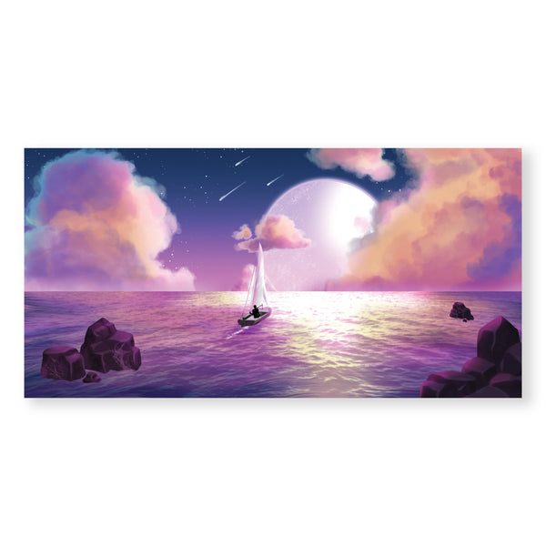 Moonlight Dream Canvas Art Clock Canvas