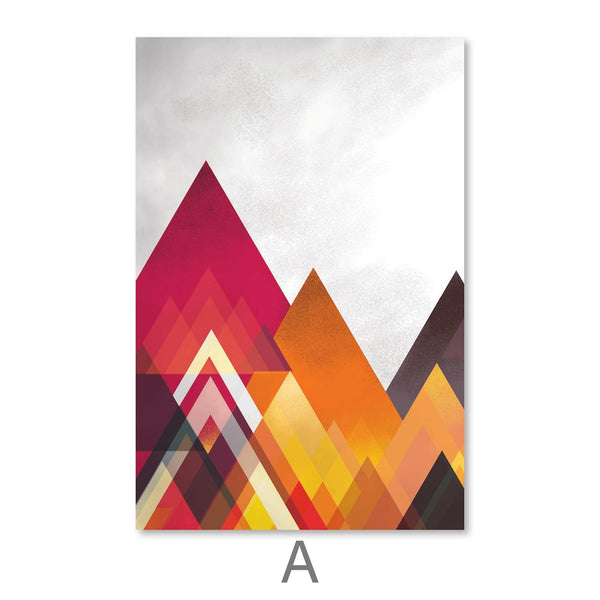 Mountain Spectrum Canvas Art A / 30 x 45cm / Unframed Canvas Print Clock Canvas