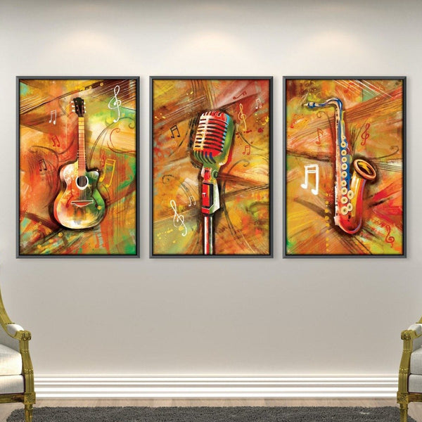 Musical Vibes Canvas Art Clock Canvas