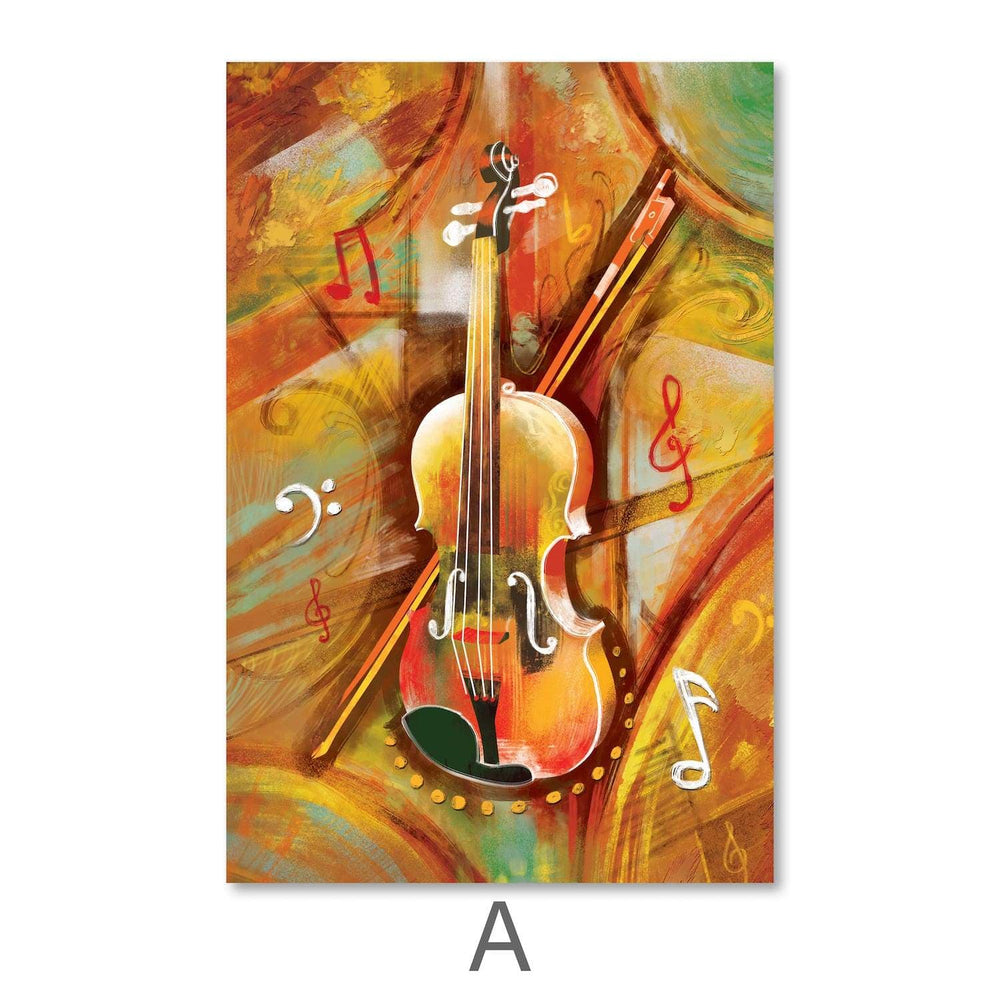 Musical Waves Canvas Art A / 40 x 50cm / Unframed Canvas Print Clock Canvas