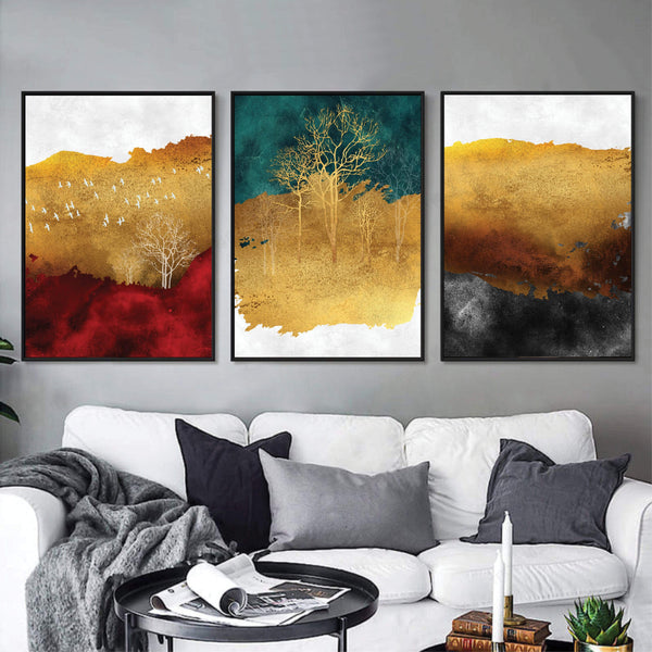 Mystical Forest Canvas Art Clock Canvas