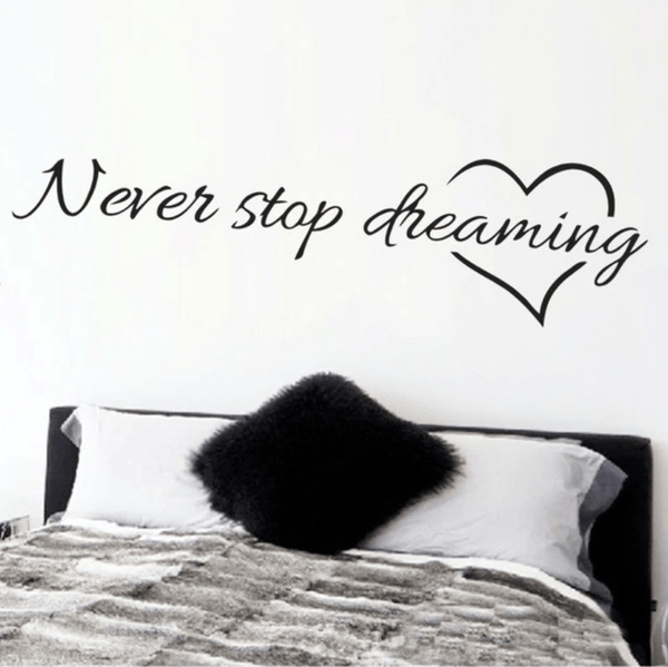 Never Stop Dreaming Wall Sticker Clock Canvas