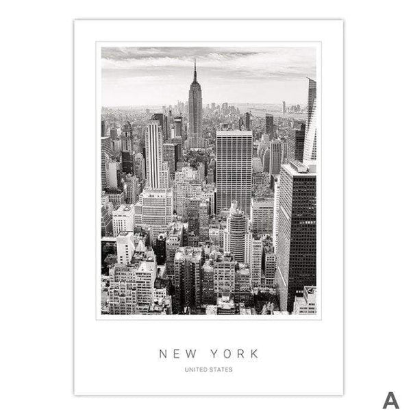 New York City Canvas Art A / 40 x 50cm / No Board - Canvas Print Only Clock Canvas