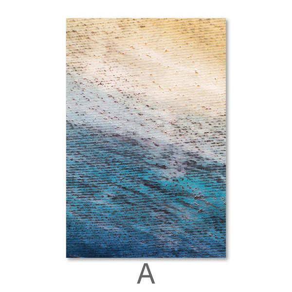 Ocean Shore Canvas Art A / 40 x 50cm / No Board - Canvas Print Only Clock Canvas