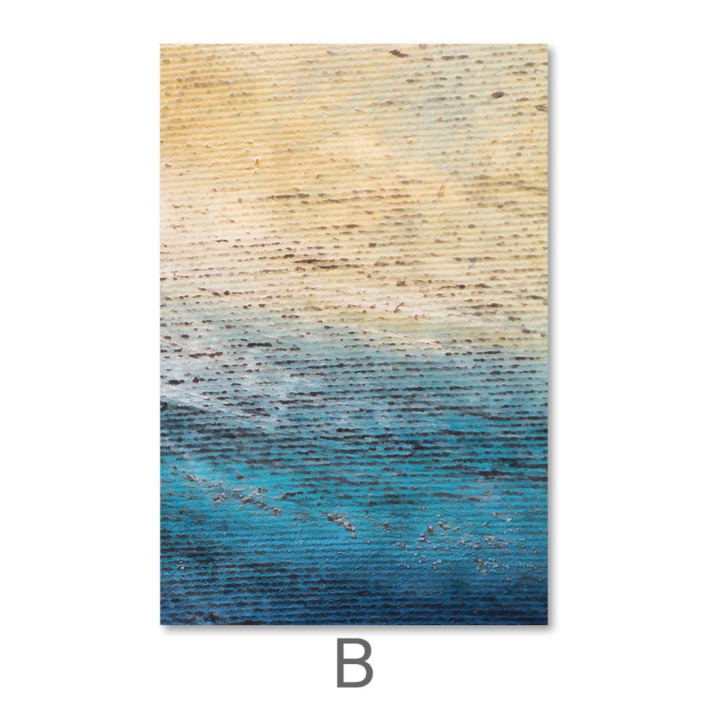 Ocean Shore Canvas Art B / 40 x 50cm / No Board - Canvas Print Only Clock Canvas