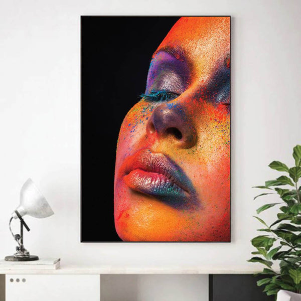 Painted Woman Canvas Art Clock Canvas