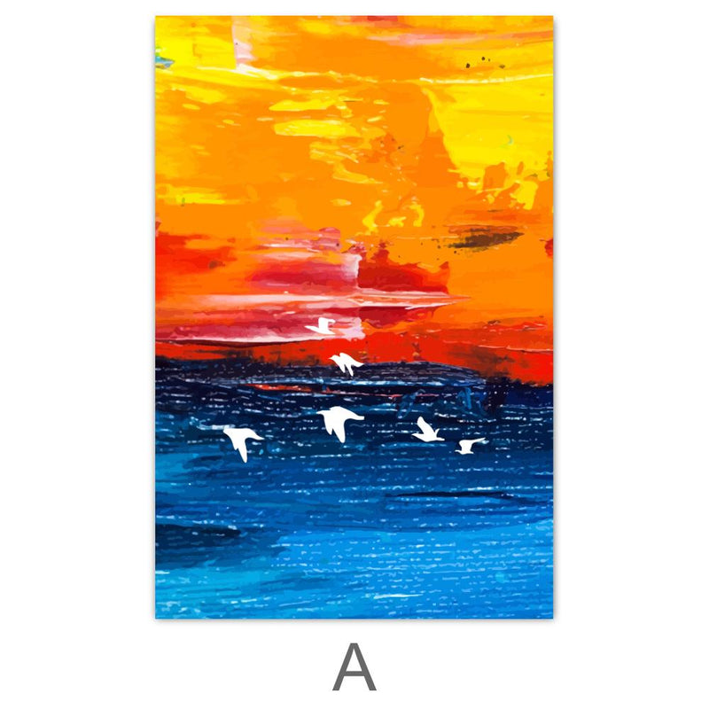 Paradise Sunrise Canvas Art A / 40 x 50cm / No Board - Canvas Print Only Clock Canvas