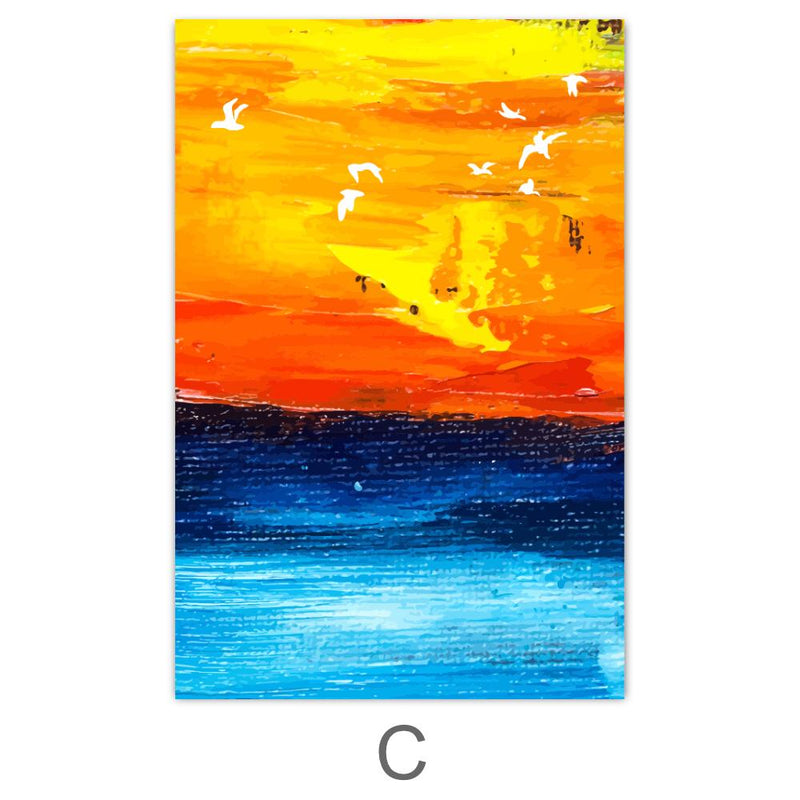 Paradise Sunrise Canvas Art C / 40 x 50cm / No Board - Canvas Print Only Clock Canvas