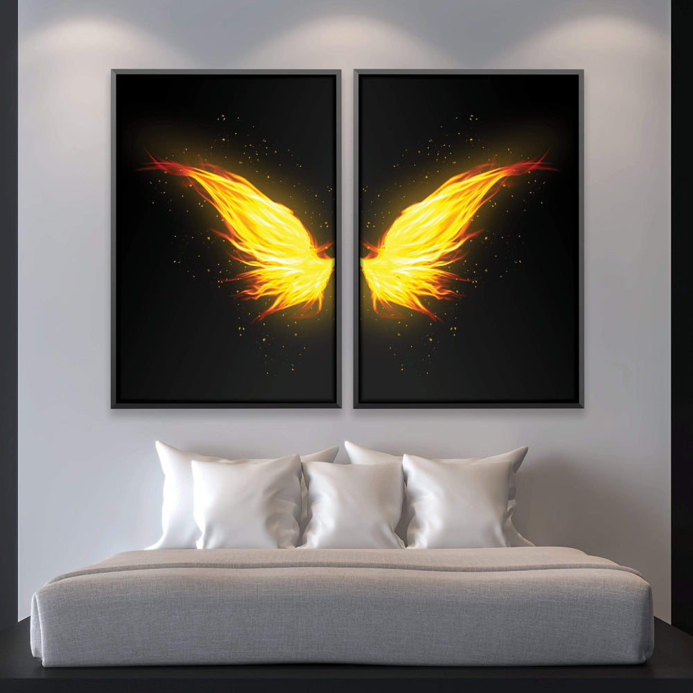 Phoenix Wings Canvas Art Clock Canvas