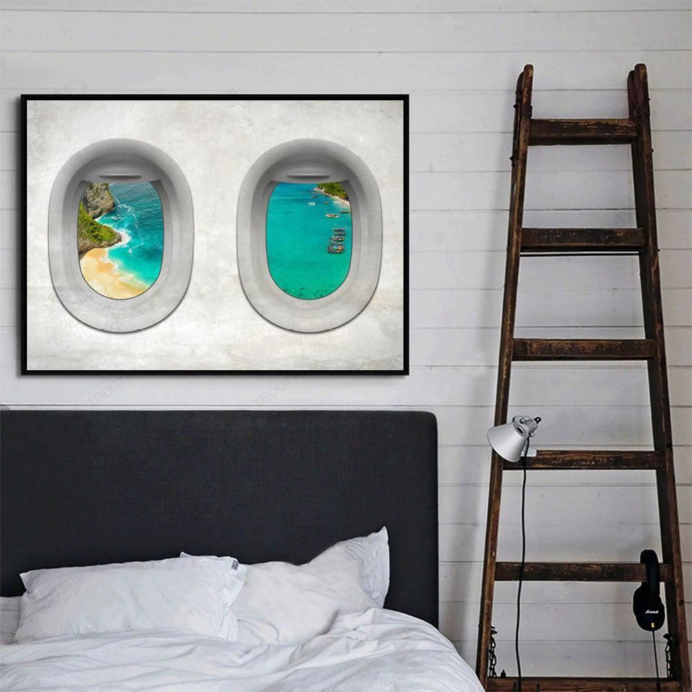 Plane View - Turkey Clock Canvas