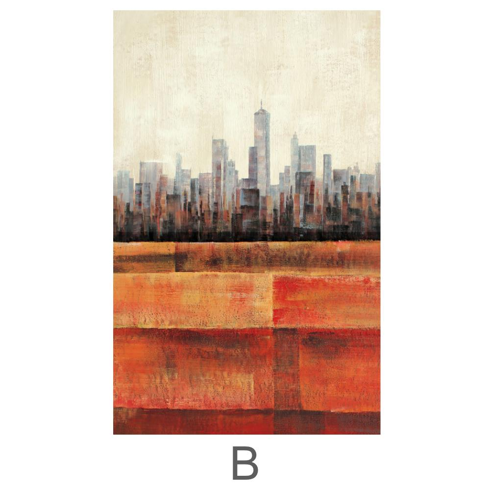 Primary Cities Canvas Art B / 40 x 50cm / Standard Gallery Wrap Clock Canvas