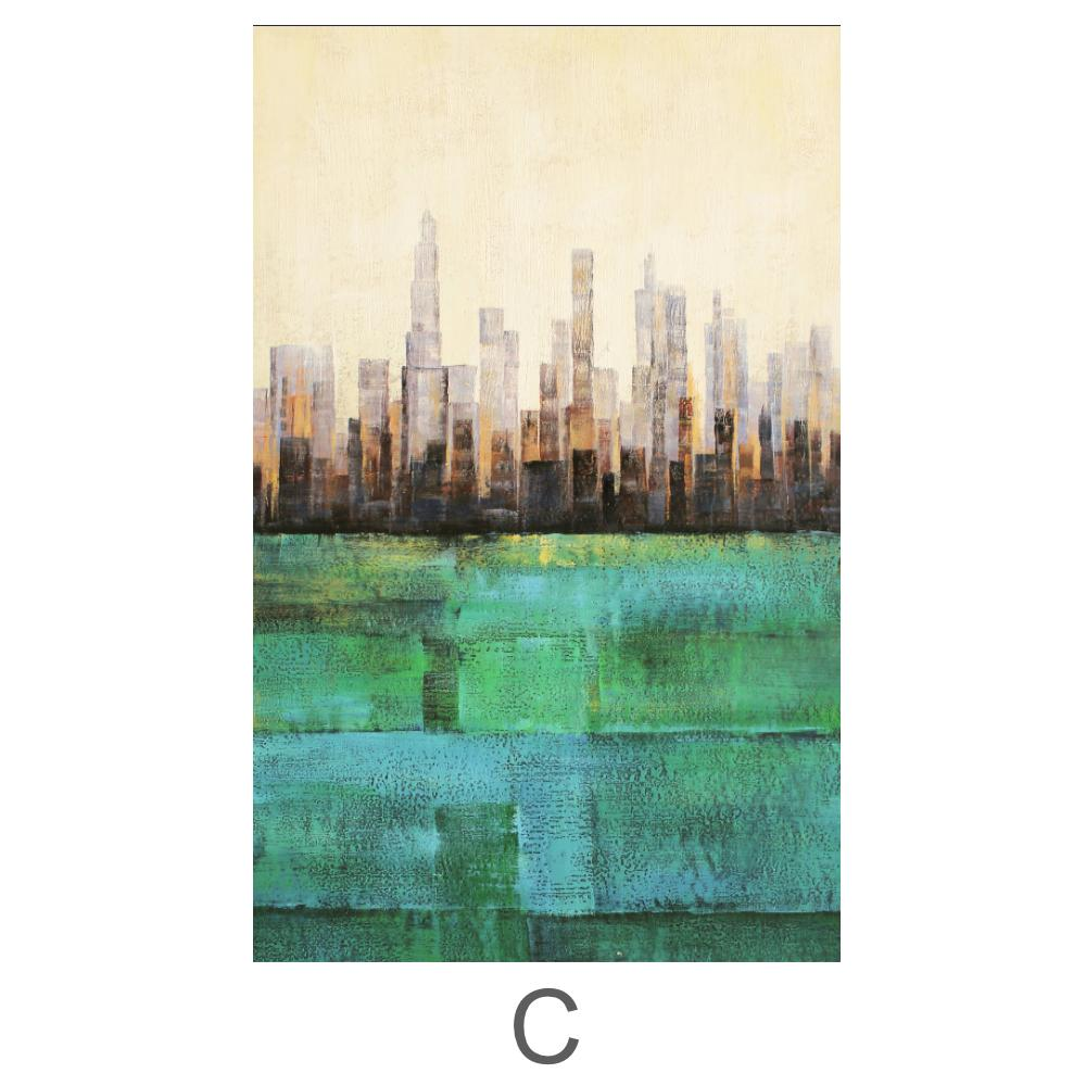 Primary Cities Canvas Art C / 40 x 50cm / Standard Gallery Wrap Clock Canvas