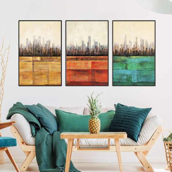 Primary Cities Canvas Art Clock Canvas
