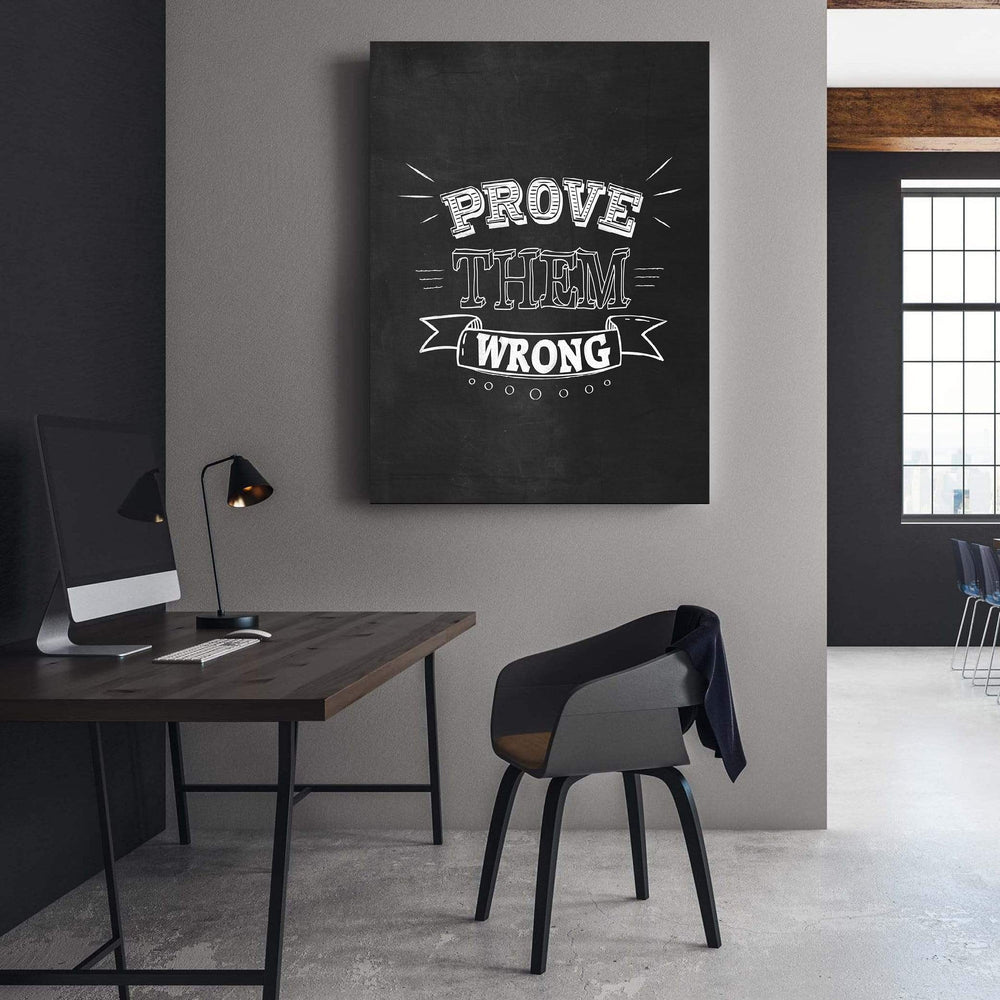 Prove Them Wrong Clock Canvas
