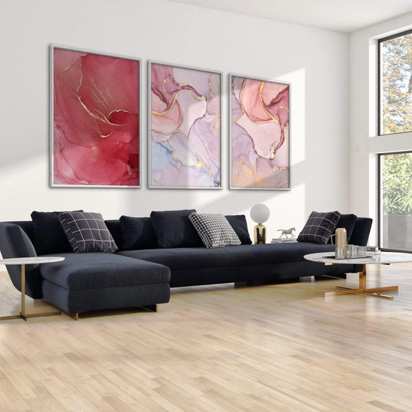 Rose Petal Canvas Art Clock Canvas