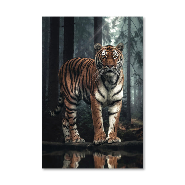 Royal Tiger Canvas Art Clock Canvas