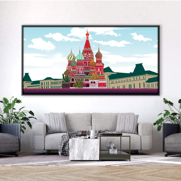 Saint Basil Cathedral Canvas Art Clock Canvas