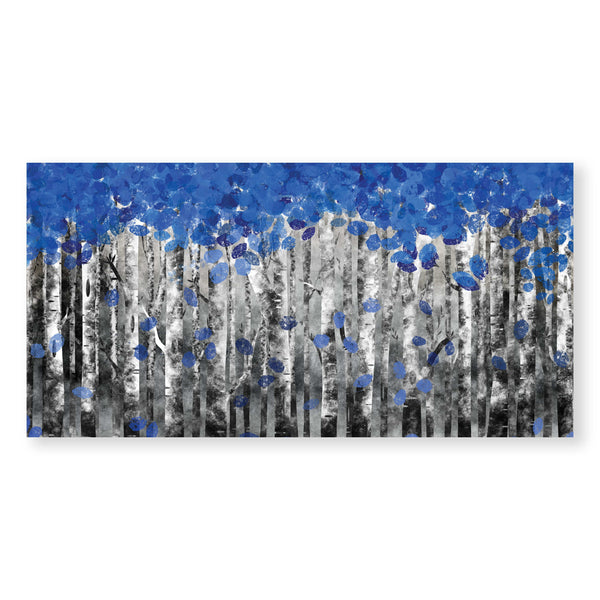 Sapphire Forest Canvas Art Clock Canvas