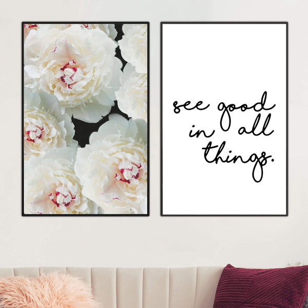 See Good Canvas Art Set of 2 / 40 x 50cm / No Board - Canvas Print Only Clock Canvas