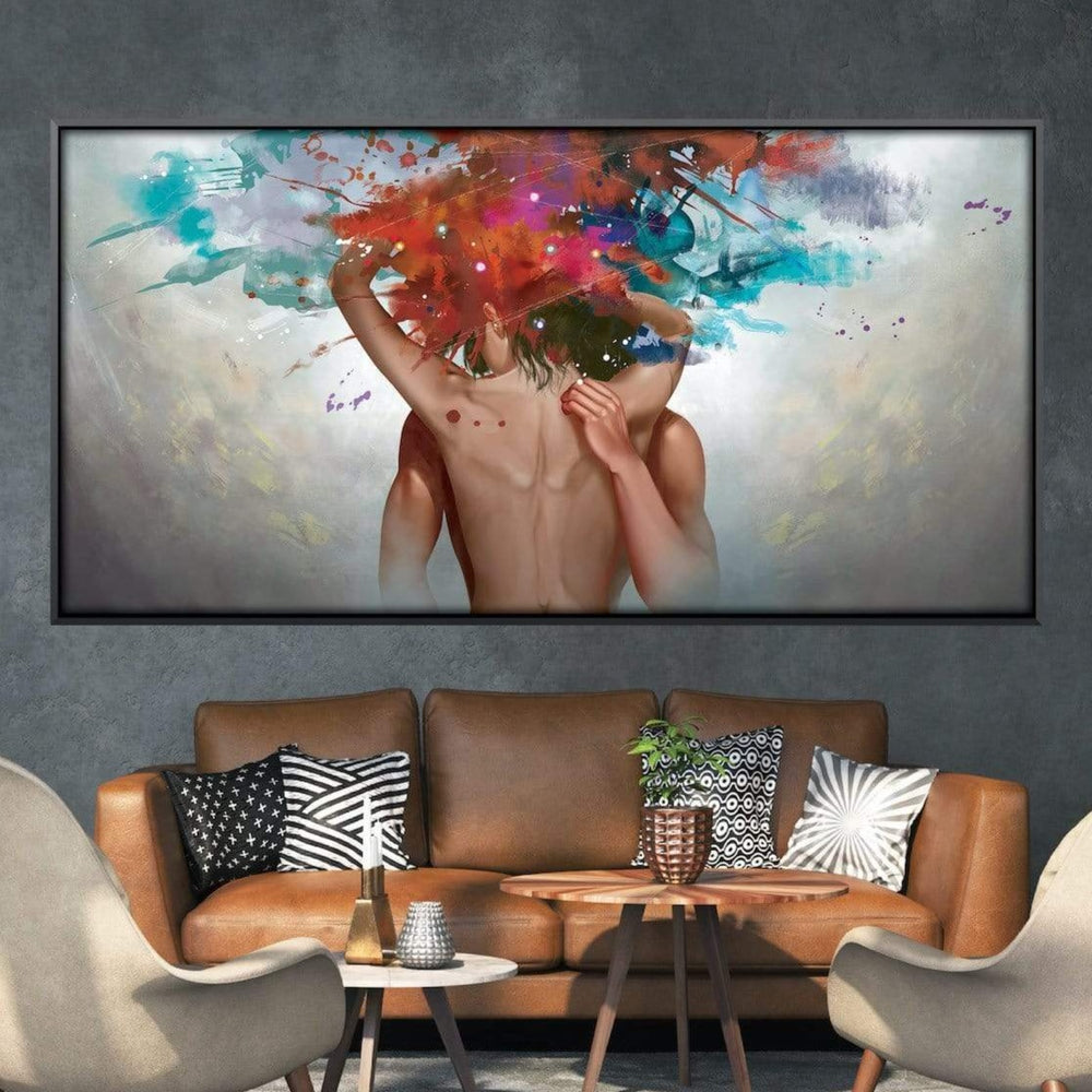 Sensual Caress Canvas Art Clock Canvas