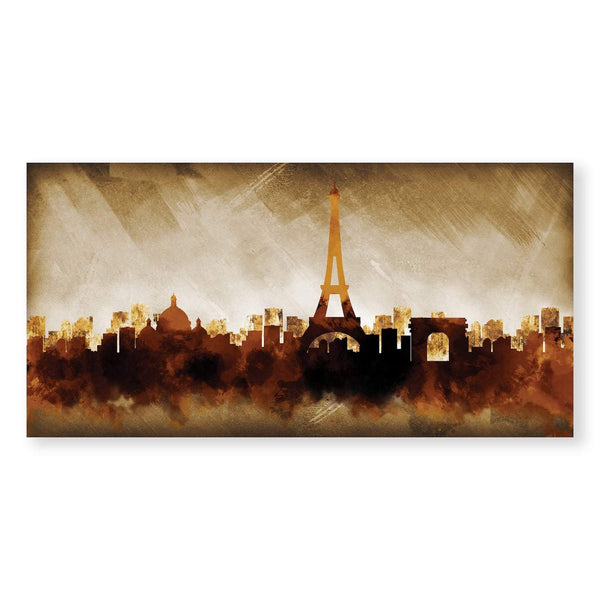 Shades of Paris Canvas Art Clock Canvas