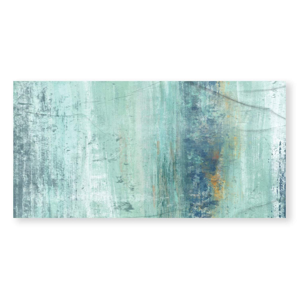 Shades of Turquoise Canvas Art Clock Canvas