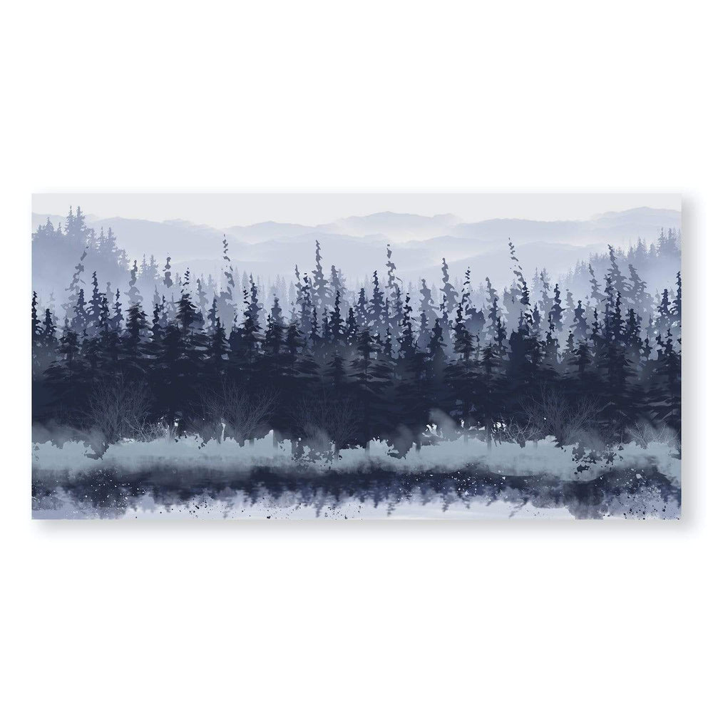 Slated Forest Canvas Art Clock Canvas