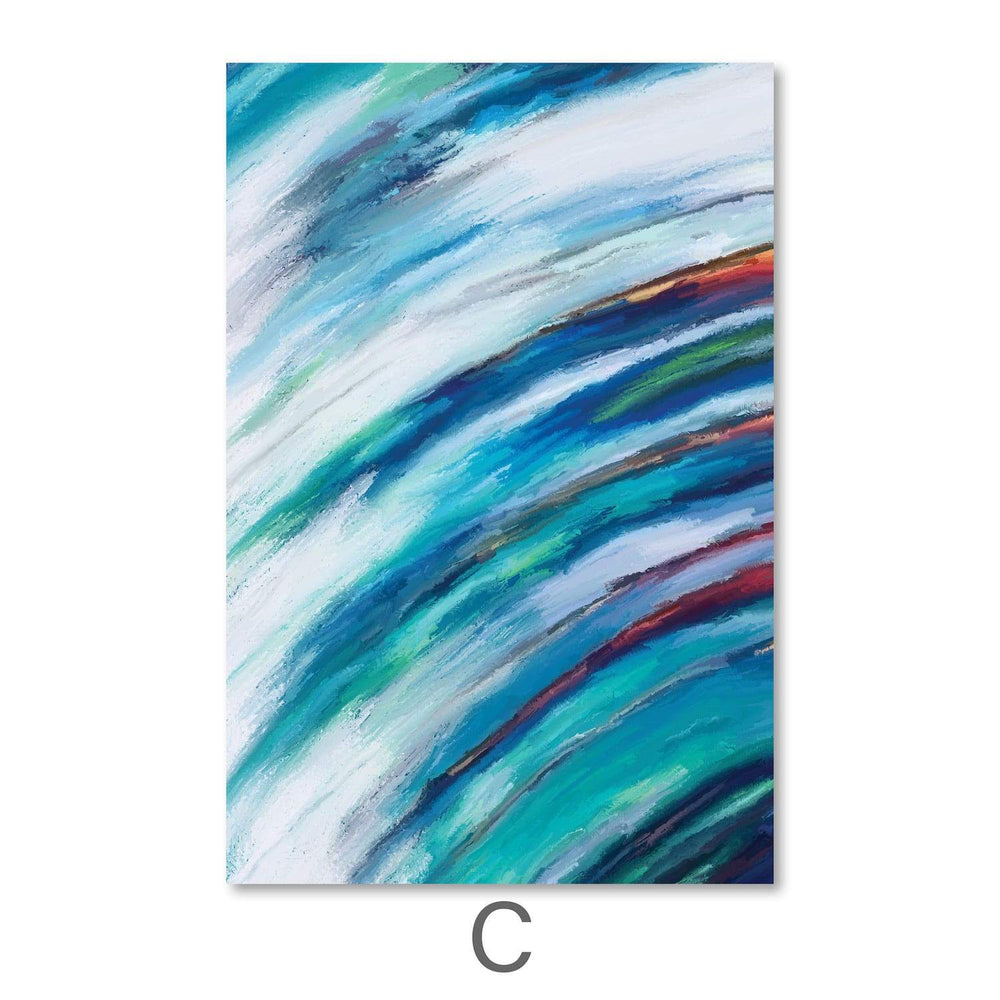 Swirling Abstract Canvas Art Clock Canvas