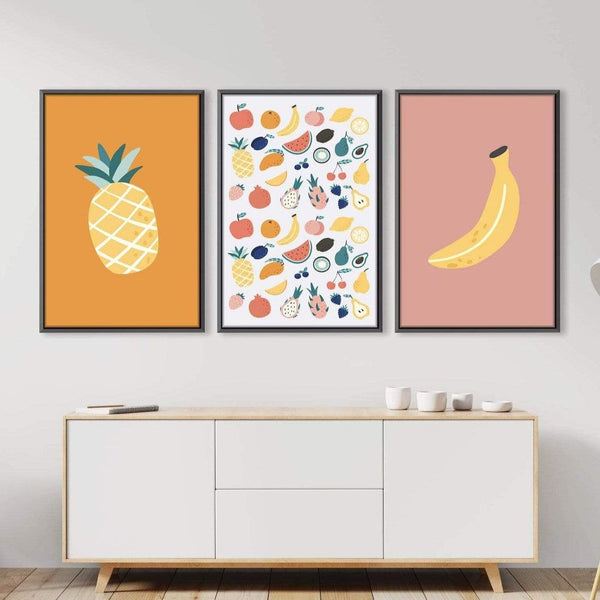 Tropical Fruities Canvas Art Clock Canvas