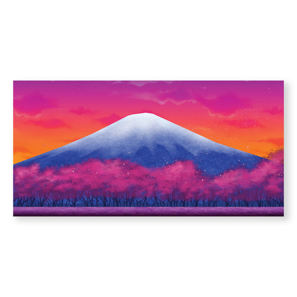 Twilight Fuji Canvas Art Clock Canvas