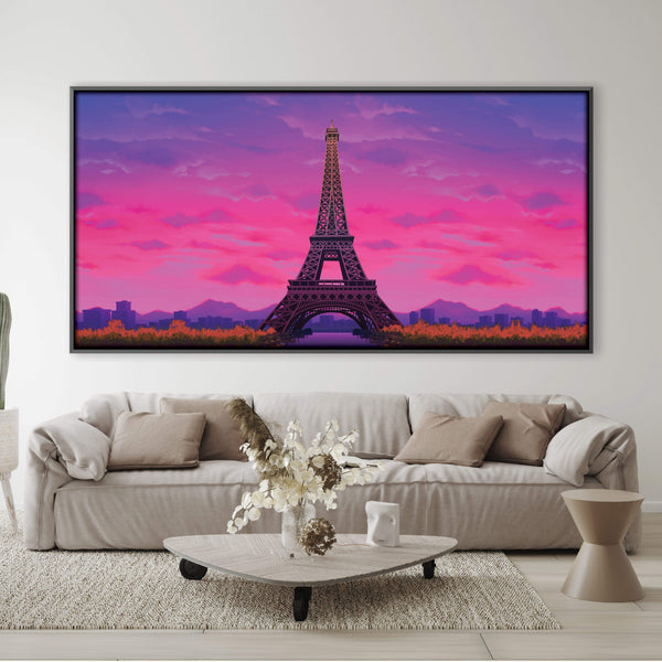 Twilight Paris Canvas Art Clock Canvas